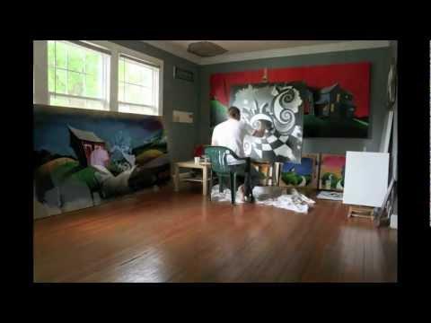 "Acrylic Painting Tips | ""Indianapolis Nights"""