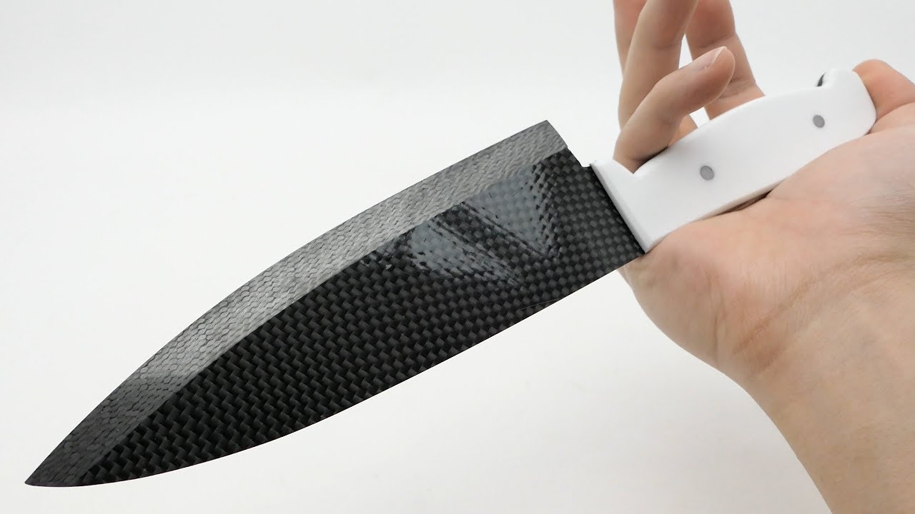 sharpest carbon fiber kitchen knife in the world  YouTube ...