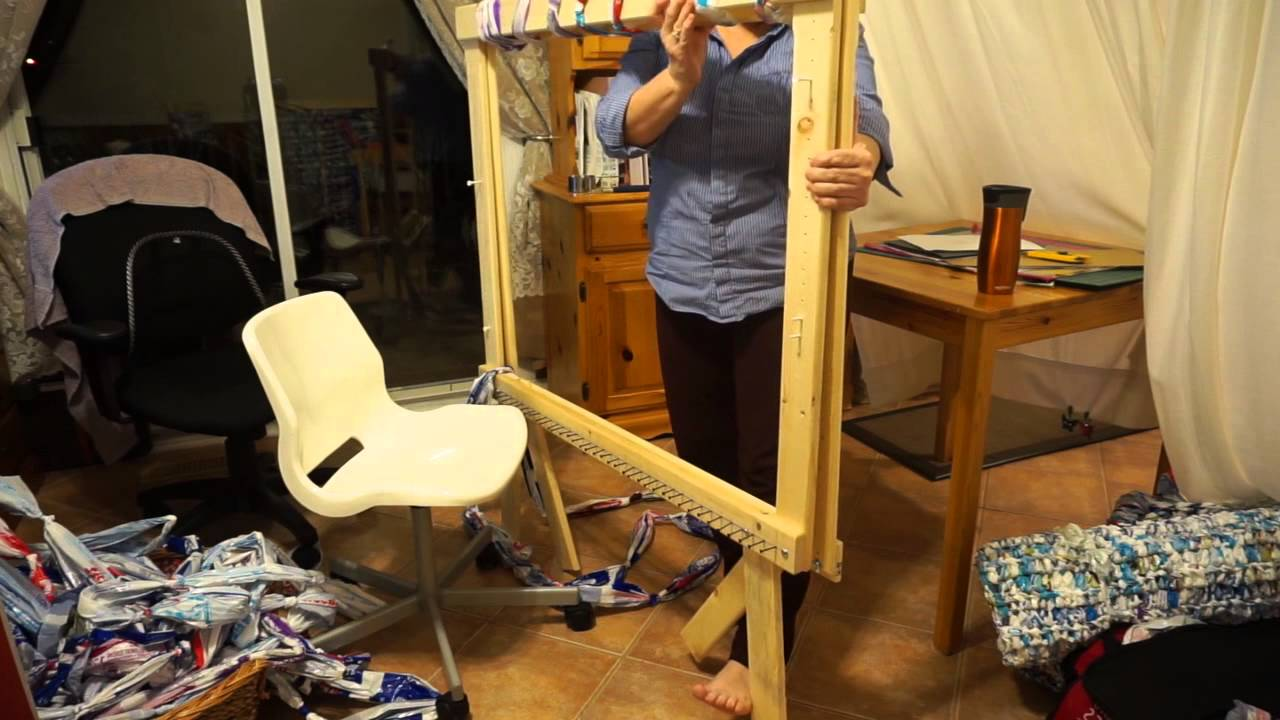 Weaving Milk Bag Mats On Compact Frame Part 1 Youtube