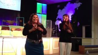 Nena Leal and Rut Ramos from Iglesia Refugio FW ...Nena loved the way Rut sang!
