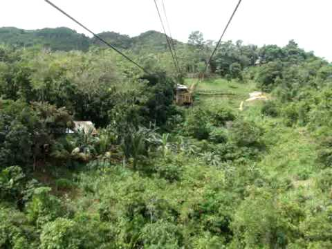 our 1st cable ride experience in loboc, bohol