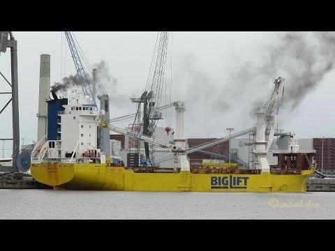 heavy load carrier HAPPY ROVER PCBZ IMO 9139309 Emden geared cargo seaship Schwerlastschiff BJ 1997