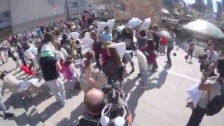 بالفيديو والصور.. اليوم العالمي لحرب الوسائد