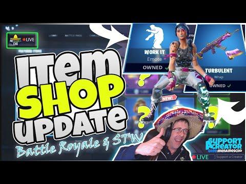 🕺menamescho's-live-🔵-*new*-work-it-emote-💃-item-shop-update-fortnite-battle-royale-8th-july-2019