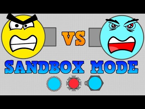 NEW DIEP.IO SANDBOX MODE!! // GOD MODE VS ARENA CLOSERS AND BOSSES!!!