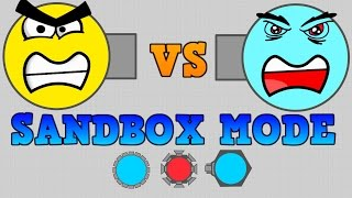 NEW DIEP.IO SANDBOX MODE!! // GOD MODE VS ARENA CLOSERS AND BOSSES!!!