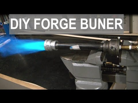 SUPER SIMPLE PROPANE FORGE BURNER! - ELEMENTALMAKER