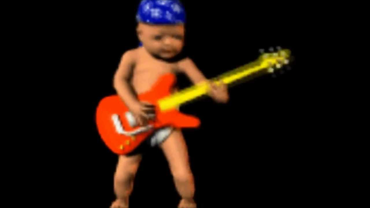 Animated Baby Plays Guitar While I Play Unfitting Music Youtube