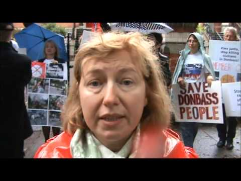 Demonstration Outside The Ukrainian Embassy, Dublin, Ireland.  By Adele King. (c)