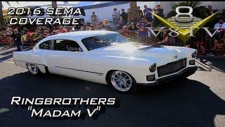 Ringbrothers 1949 Cadillac Madam V At SEMA 2016 Video V8TV