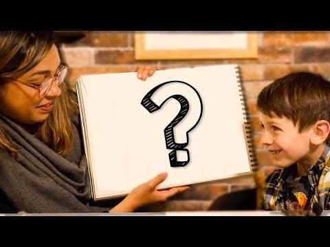 ELLE DESSINE CE QUE IMAGINENT LES ENFANTS
