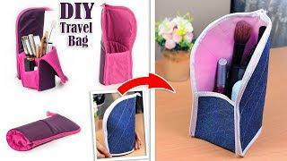DIY ADORABLE JEANS PURSE BAG // Zipper Travel Pouch // OLD JEANS TRANSFORM