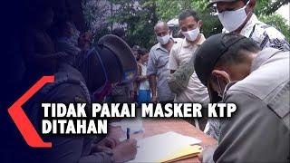 Cegah Korona Pemko Medan Wajibkan Masker, Yang Bandel KTP Ditahan