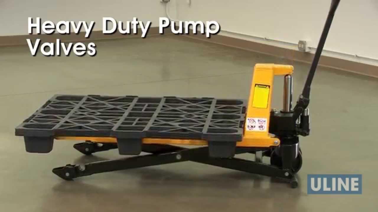 Scissor Lift Pallet Trucks Youtube