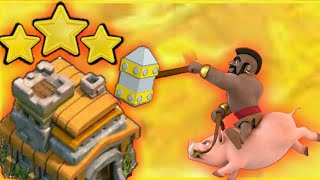 30 Hog Rider Attack Strategy Th7 War In Clash of Clans