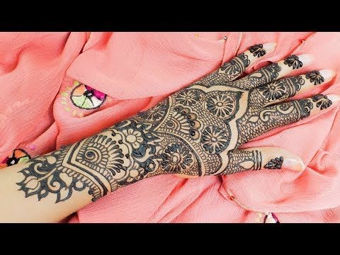 Pakistani Indian Wedding Mehndi Design 2017 Video | Bridal Henna Mehndi