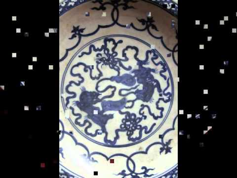 #4 antique chinese porcelain plate Ming dynasty.avi