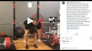 Pete Rubish Is Switching To Hook Grip After Missing A 400 KG Deadlift!!!