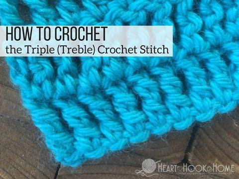 How to Crochet the Triple (Treble) Crochet Stitch - YouTube