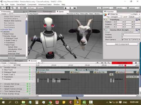 Cinema Director 3D - 1 :  แนะนำ Cinema Director และการใช้ร่วมกับ Animator Controller