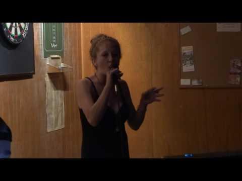 Carmen Bryan singing karaoke Jumpin' Jack Flash