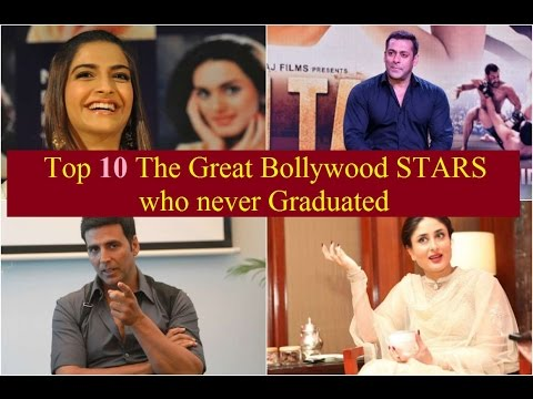 Top 10 The Great Bollywood STARS who never Graduated Yet