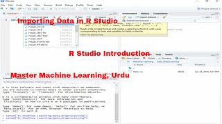 Master machine learning series-importing data in r studio