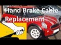 MINI One hand brake cable replacement