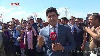 """""""Erzurum Türk Oyunları Festivali"""" renkli görüntülere sahne oldu"""