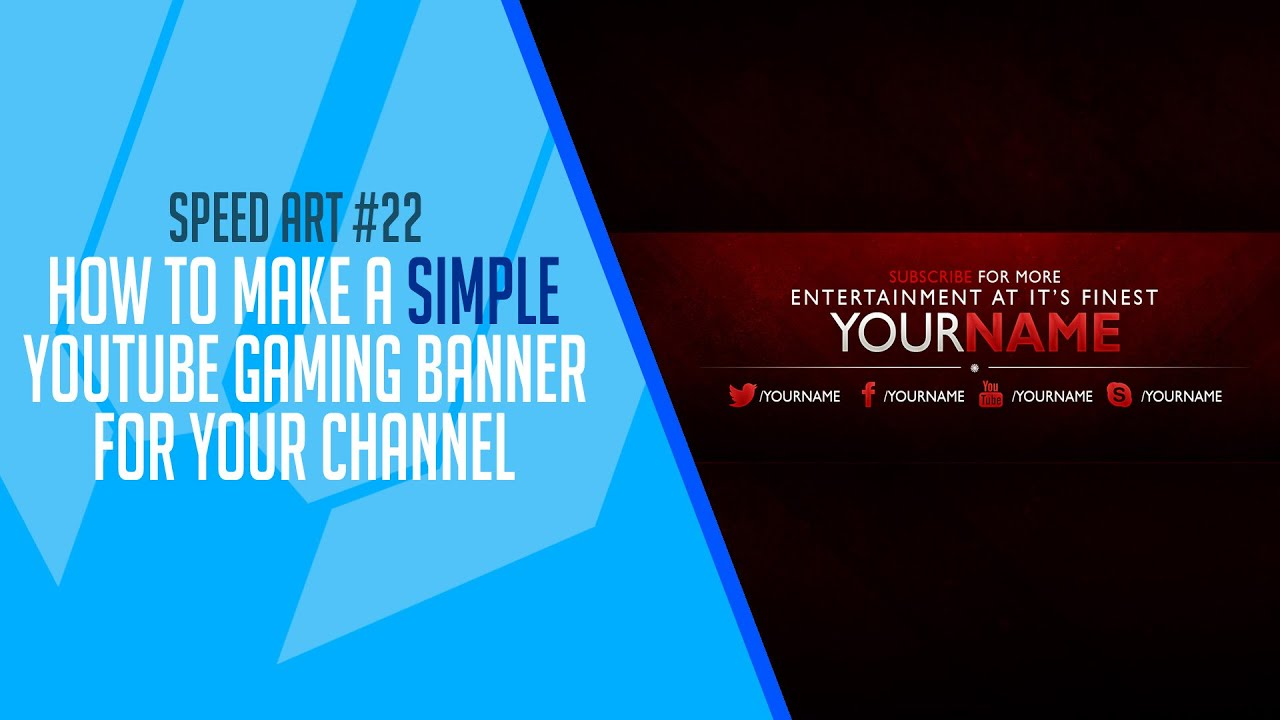 how to make a gaming banner for youtube