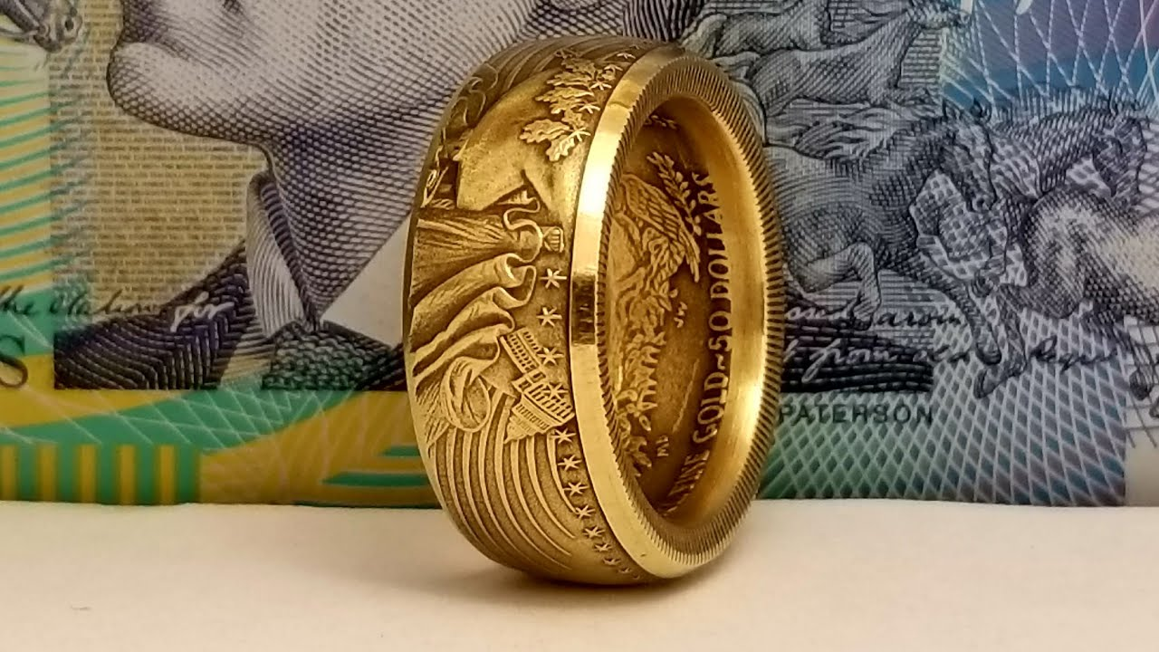 How To Make A Coin Ring From A 1 Oz Us Gold Eagle Youtube