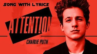 Attention Song with lyrics - Charlie Puth |Maanastvm