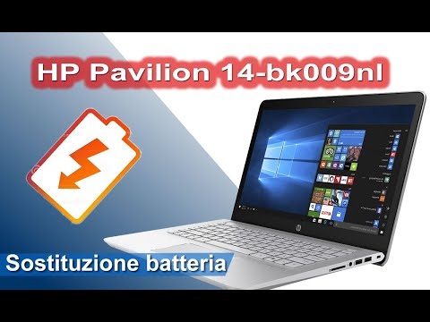 HP Pavilion 14-bk009nl - 14-bk series - Sostituzione Batteria - Battery replacement