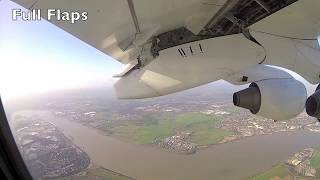 Landing at London City (LCY) UK - RWY27 (Window View)