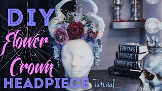 DIY Flower Crown Headpiece Tutorial | How To Make A Flower Crown For Beginners