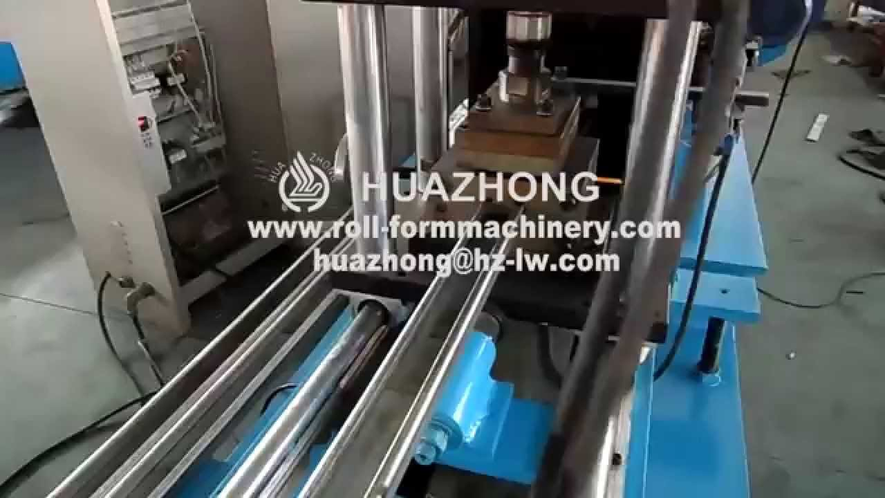 Huazhong garage door c track roll forming machine youtube huazhong garage door c track roll forming machine rubansaba