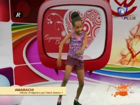 AMARACHI...winner of Nigeria's Got Talent show on Dedications