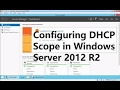 How to create DHCP Scope on windows Server