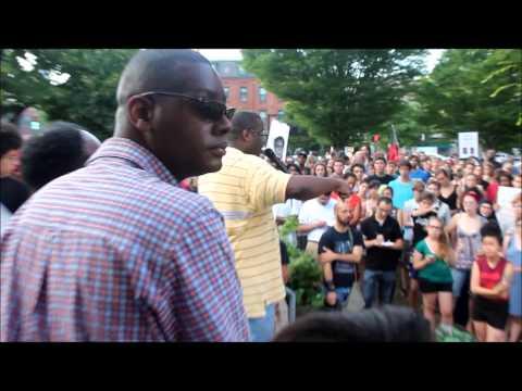 Justice for Trayvon MartinRally Dudley Square Roxbury Boston June 14 2014