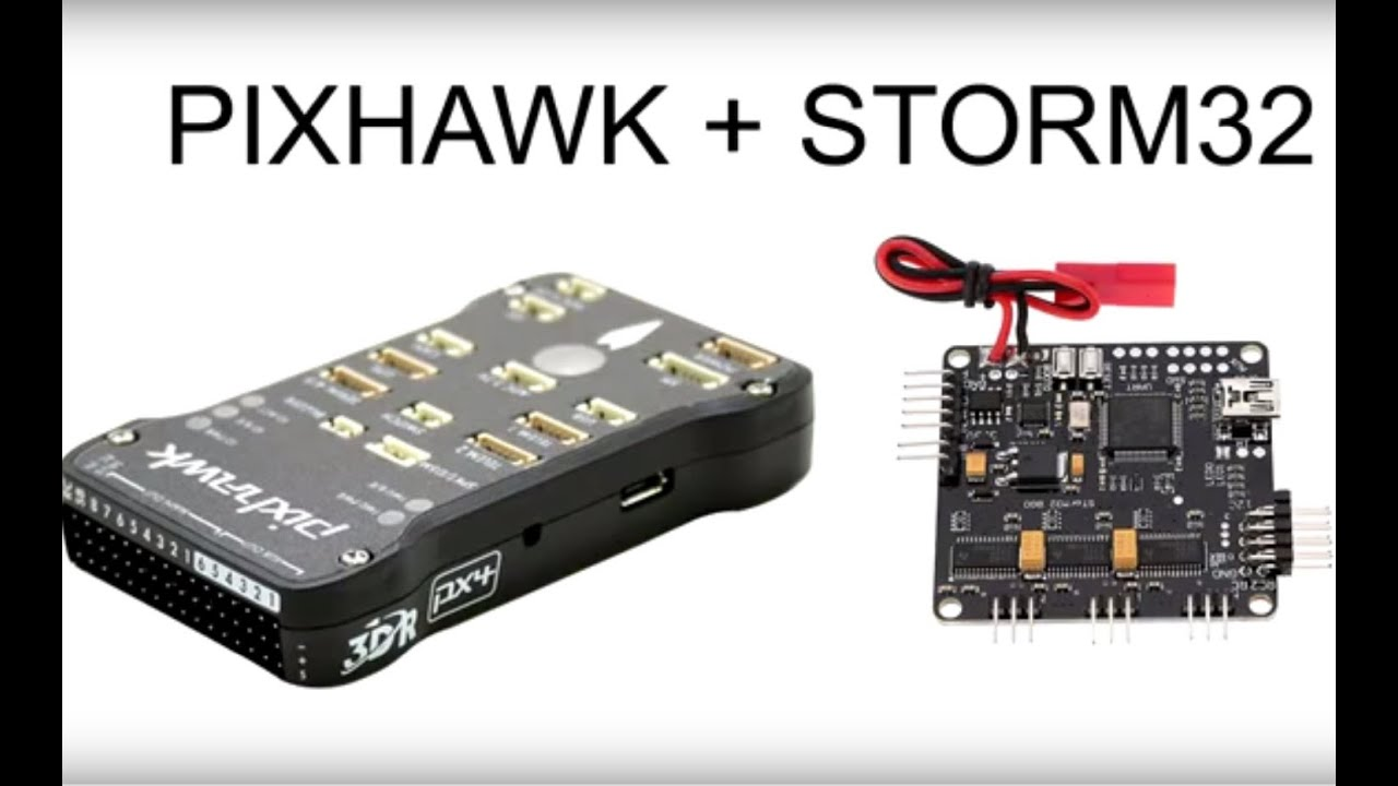 Pixhawk with Storm32 over serial connection (MAVLink) - YouTube