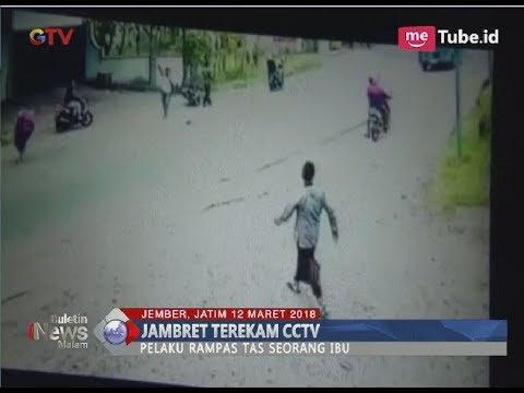 Viral Video Penjambretan Paksa yang Terekam CCTV di Jember - BIM 12/03