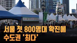 서울 첫 800명대 확진…모임 시간 줄이면 감염 위험 …