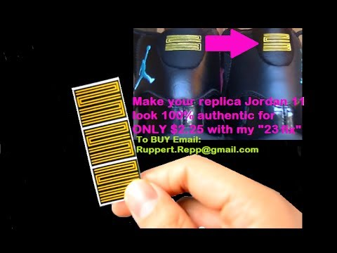 hot sale online 462ba dcfc8 How to make Replica Jordan 11 Gamma blue look 100% Authentic! (must watch)  - YouTube