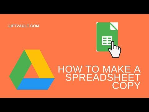 How to Make a Copy of a Spreadsheet | LiftVault.com