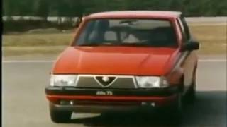 ALFA 75 V6 testata da Riccardo Patrese e Eddie Cheever (Balocco)