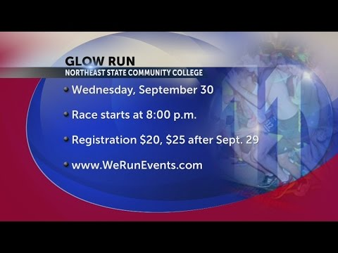 Glow run at Northeast State Community College