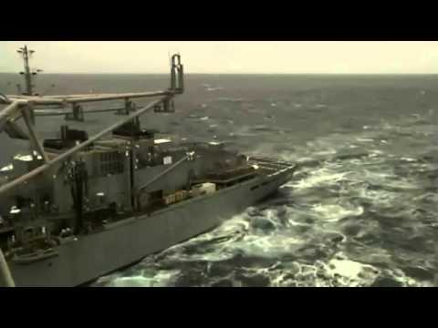 Fast combat support ship supply T AOE 6 and USS Enterprise CVN 65