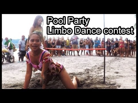 Limbo dance at pool party in Subic - philippines