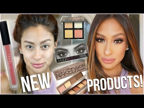 TRYING NEW MAKEUP! First Impressions & Review | Urban decay, HUDA Beauty,