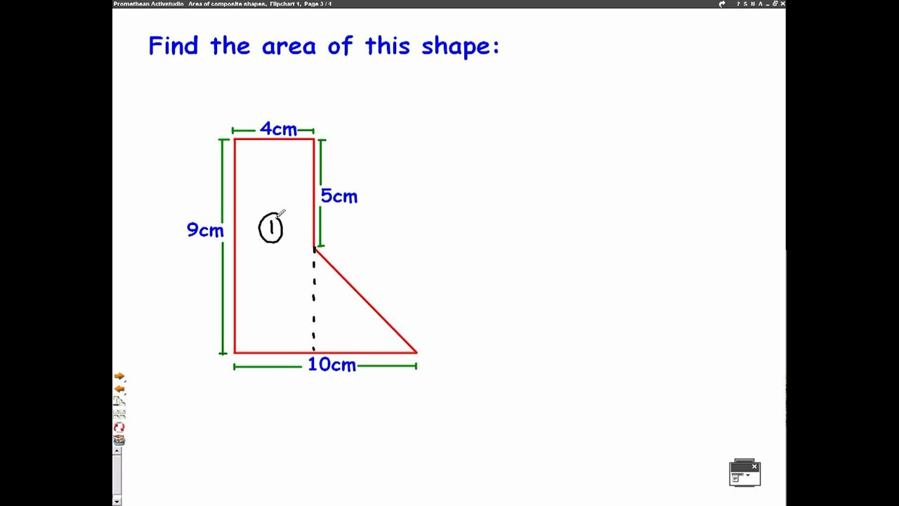 worksheet Area Of Complex Figures Worksheet area of composite shapes mathscast youtube